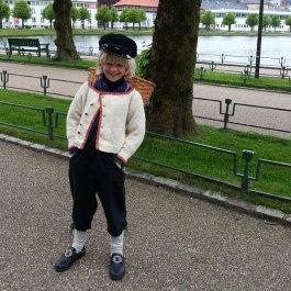 Strilagut med kipe på vei til Torgdagen, han vant også i 2013
