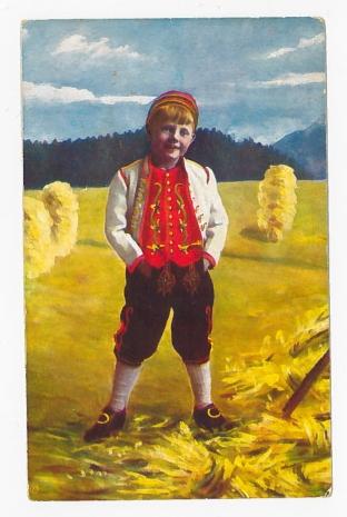 gutt i bunad 1920 A