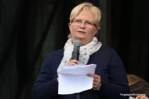 Britt Sæle Instebø sendte helsing frå Norges Fiskarlag til Torgdagen i høve jubileet