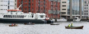 Her er alle tre båtane oppe mot runding