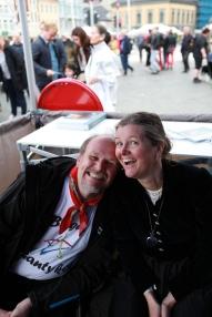 Styremedlem Ludvig Daae Lampe og styremedlem Lena Eikeland Kutschera