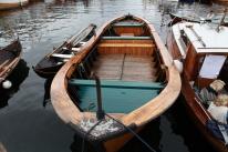 Sjå dette vidunderet! Ein av fem dorryar som høyrde til ein notbåt frå Austevoll